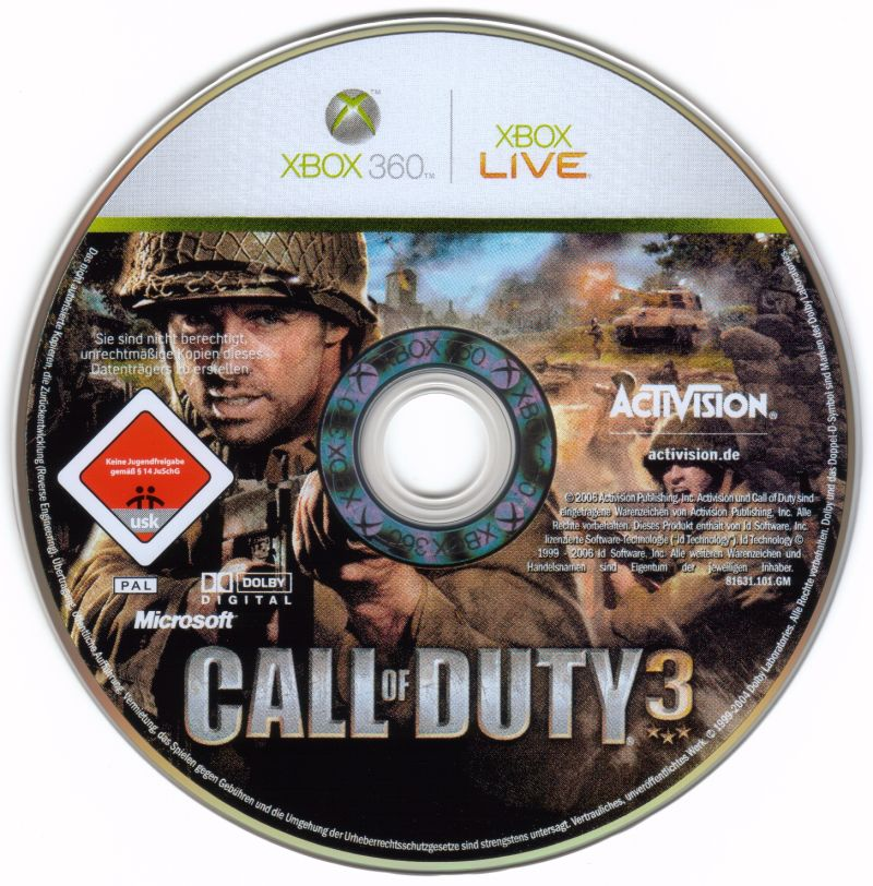 Call of Duty 3 Xbox 360 Media