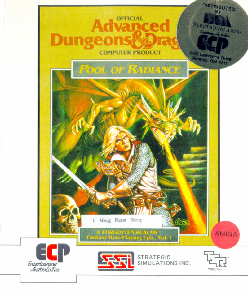 Pool of Radiance Amiga Front Cover