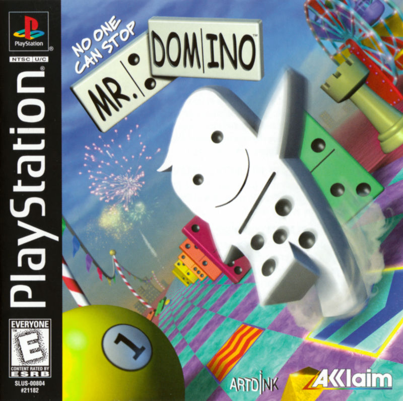 No One Can Stop Mr. Domino PlayStation Front Cover