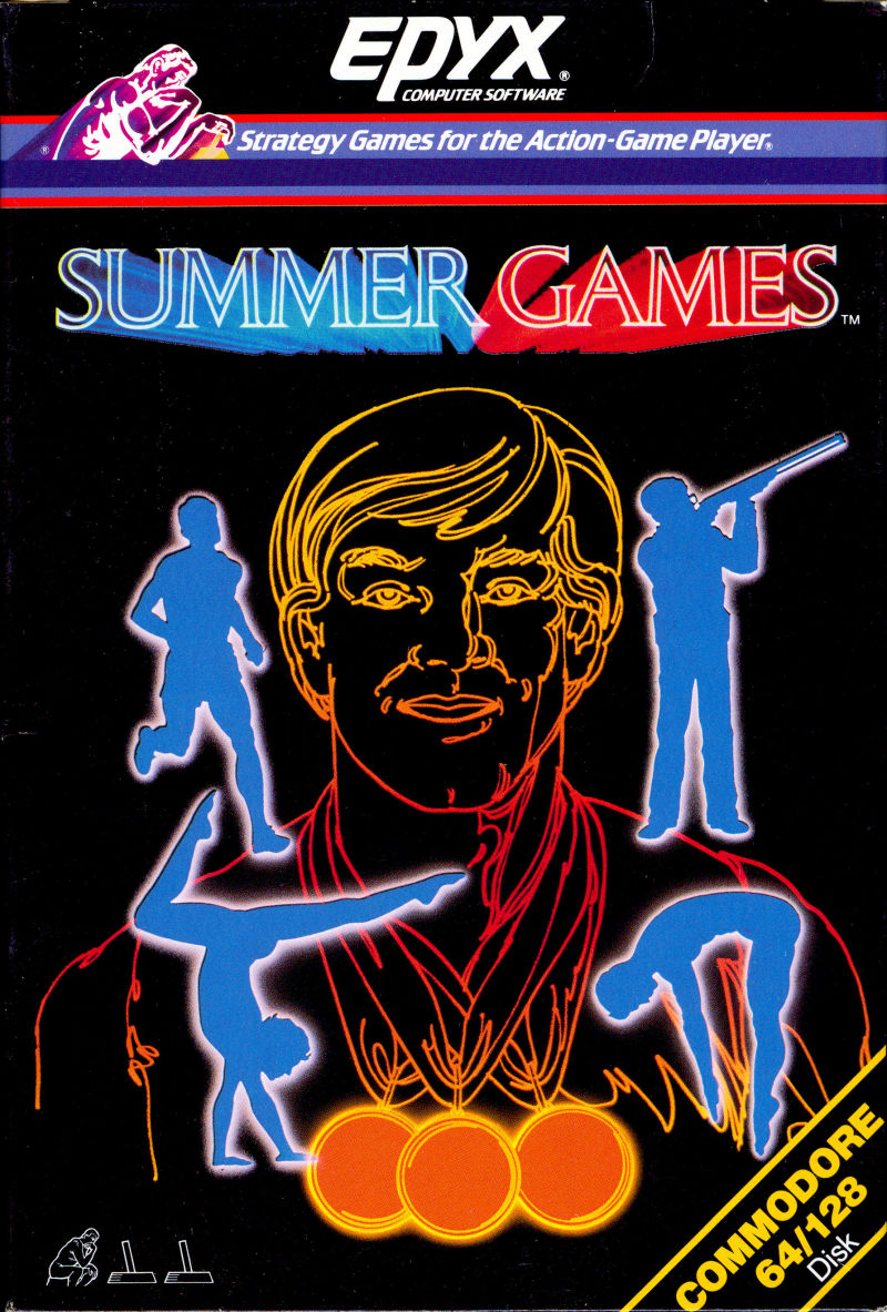 Summer Games Commodore 64 Front Cover