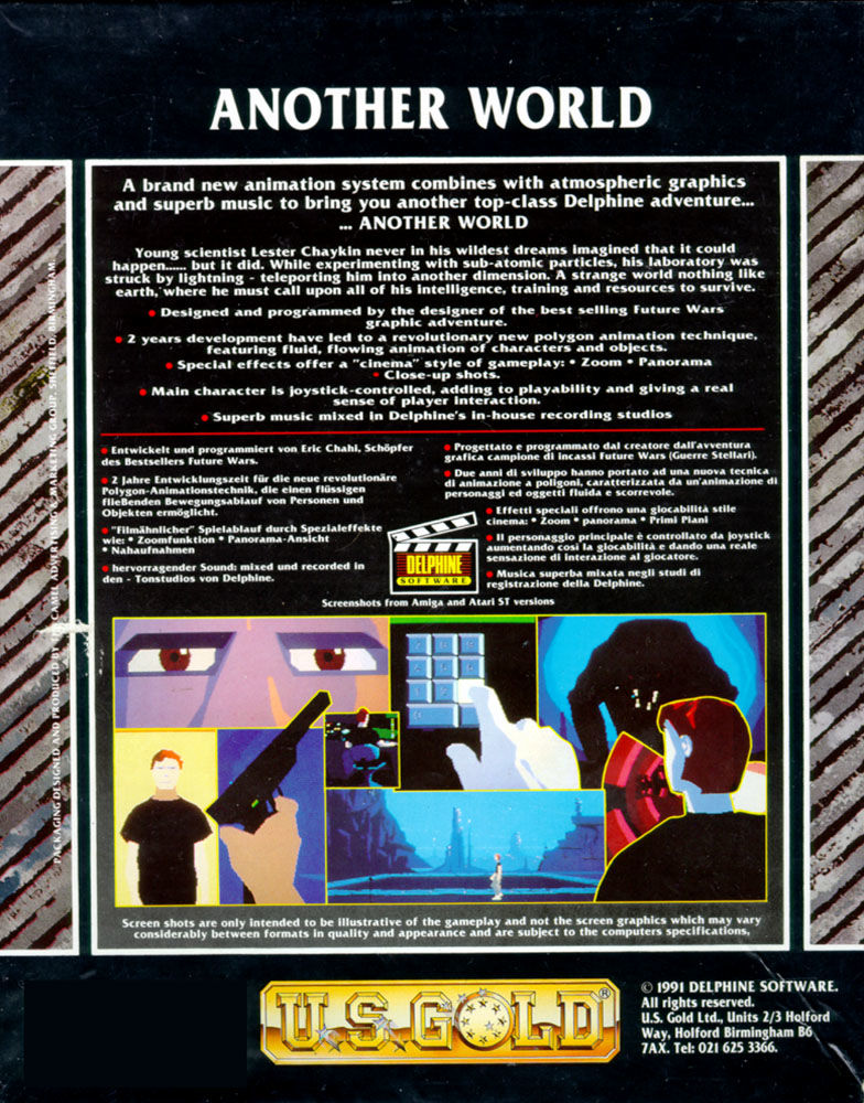 Out of This World Amiga Back Cover