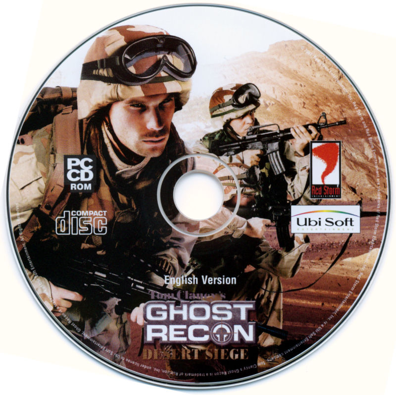Tom Clancy's Ghost Recon (Gold Edition) Windows Media Desert Siege Disc