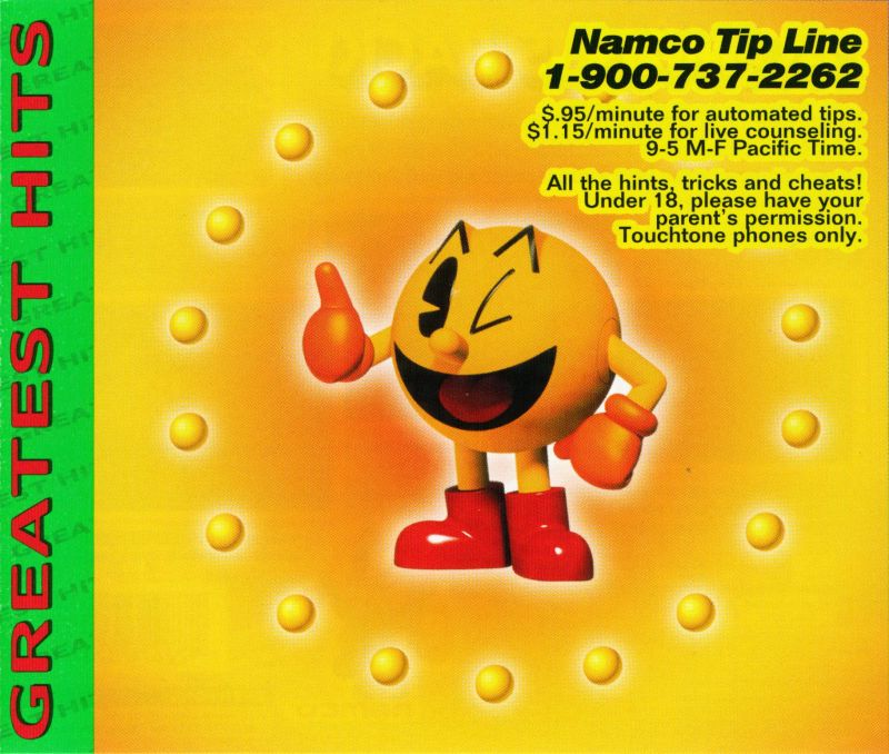 Pac-Man World PlayStation Inside Cover