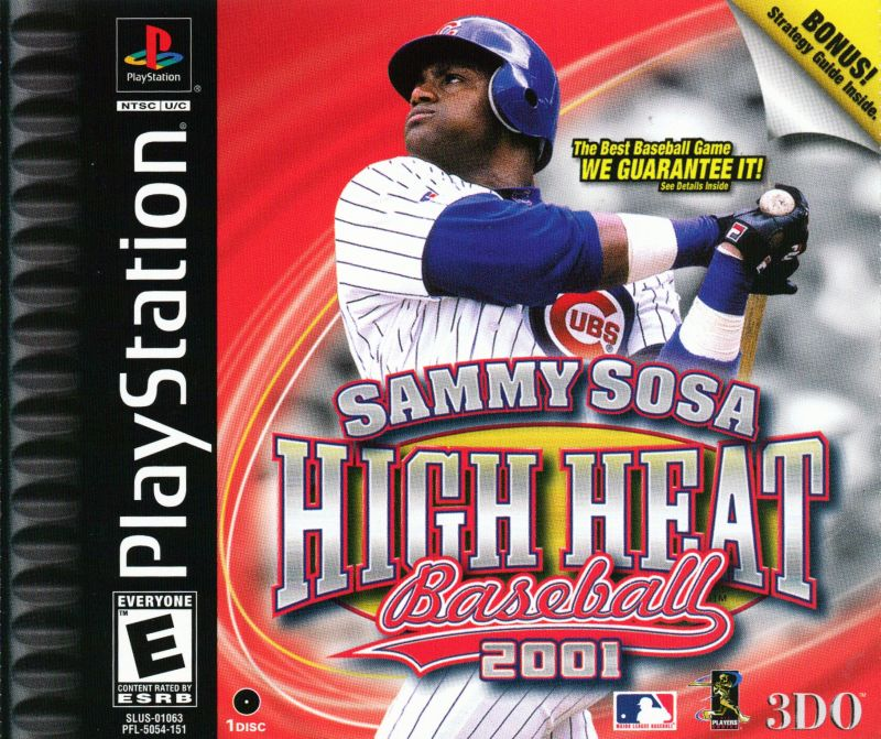Sammy Sosa High Heat Baseball 2001 PlayStation Front Cover