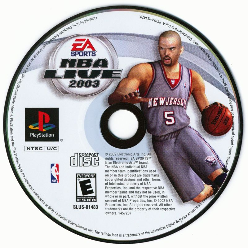 NBA Live 2003 PlayStation Media