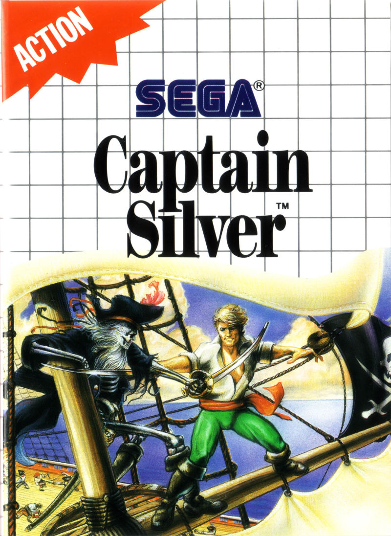 Captain Silver SEGA Master System Front Cover