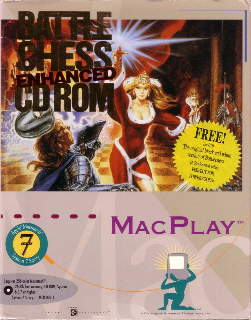 Battle Chess: Enhanced CD ROM Macintosh Front Cover