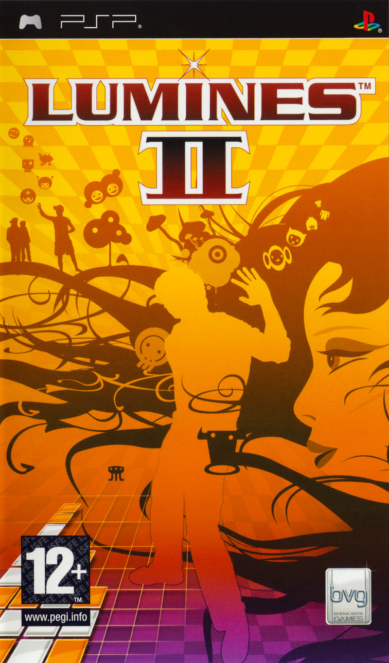 Lumines II PSP Front Cover