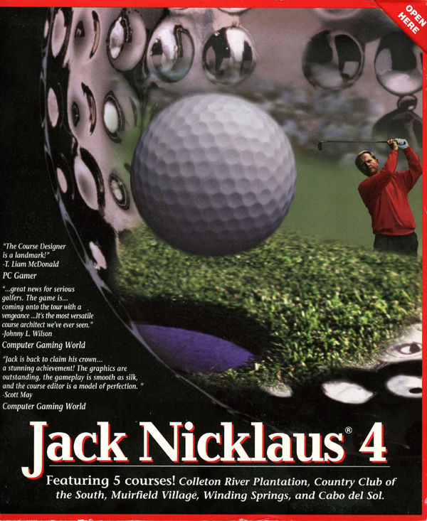 Jack Nicklaus 4 Windows Front Cover