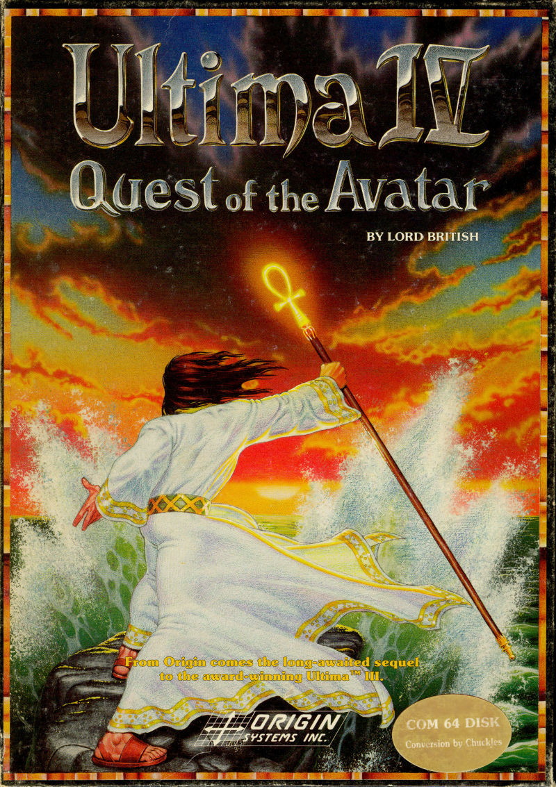 Ultima IV: Quest of the Avatar Commodore 64 Front Cover