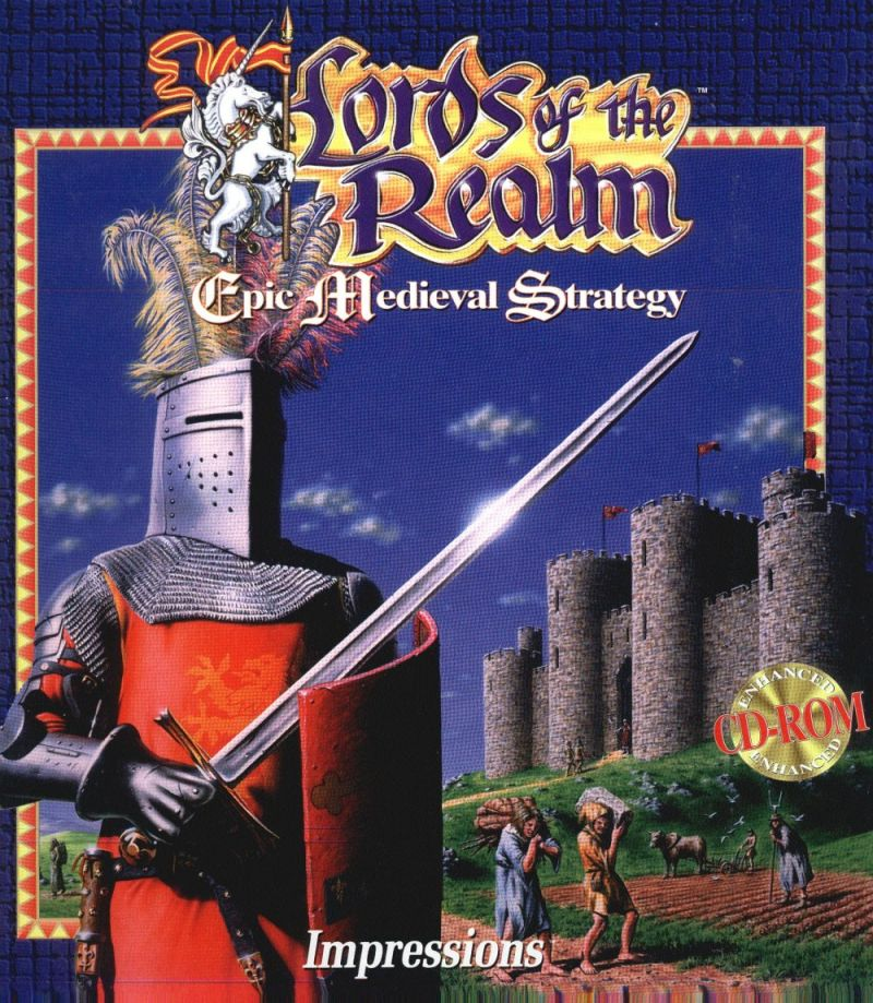 Lords of the Realm DOS Front Cover