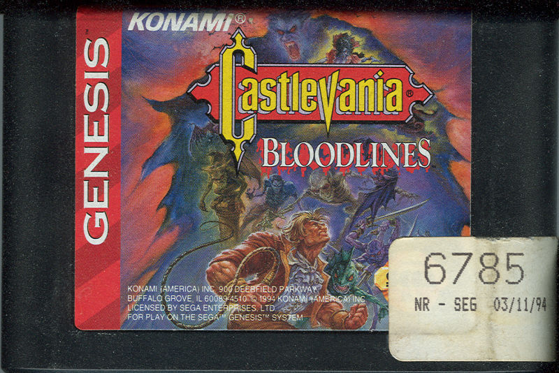 Castlevania Bloodlines Genesis Media