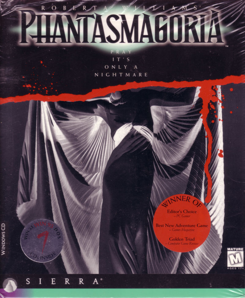 Roberta Williams' Phantasmagoria DOS Front Cover