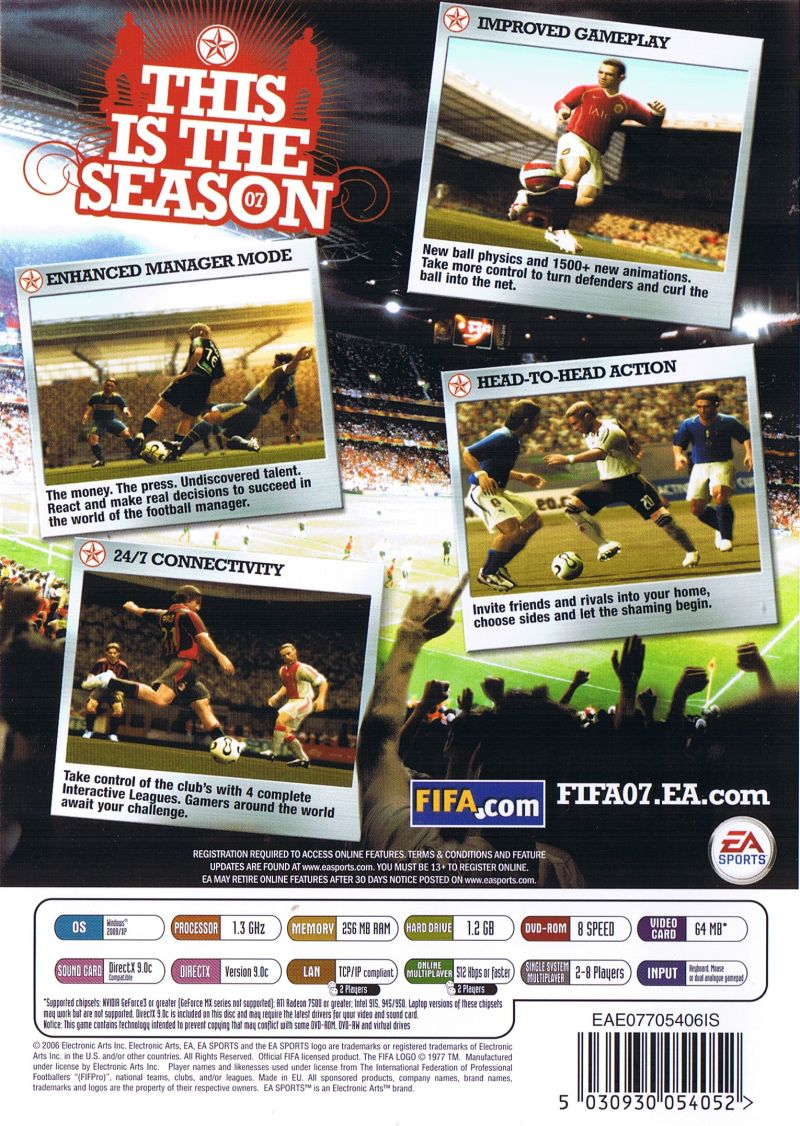 FIFA Soccer 07 Windows Back Cover