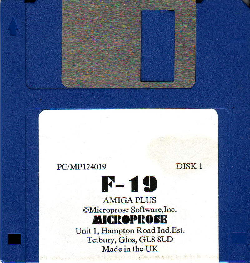 F-19 Stealth Fighter Amiga Media