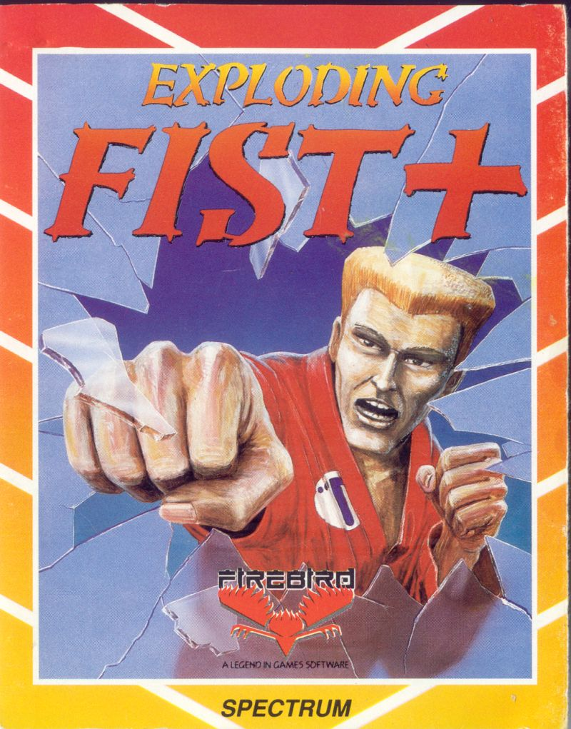 Exploding Fist + ZX Spectrum Front Cover
