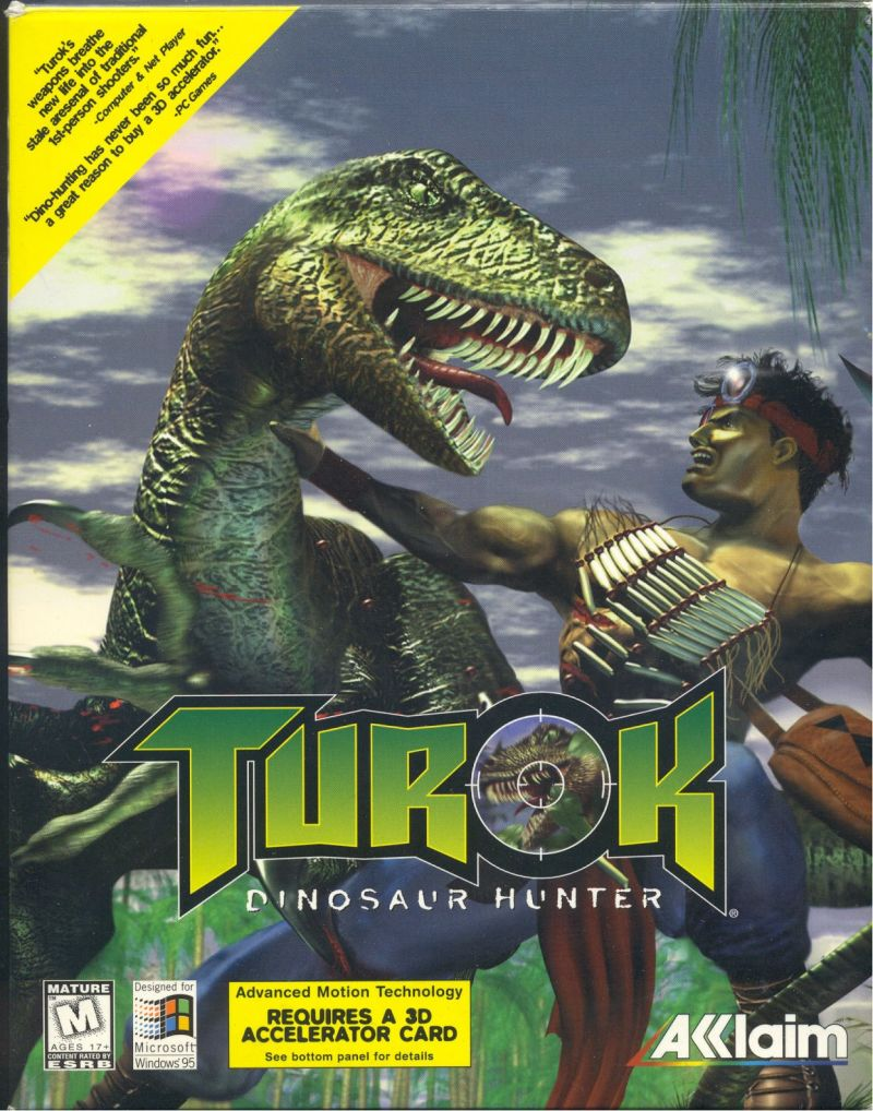 Turok: Dinosaur Hunter Windows Front Cover