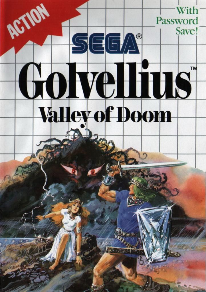 Golvellius: Valley of Doom SEGA Master System Front Cover