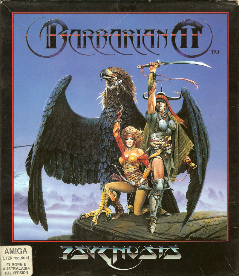 Barbarian II Amiga Front Cover
