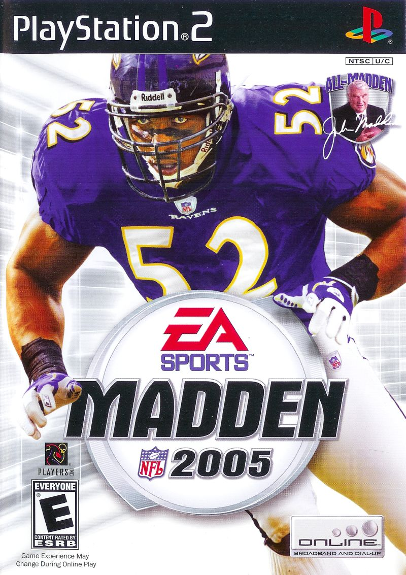 Madden NFL 2005 PlayStation 2 Front Cover