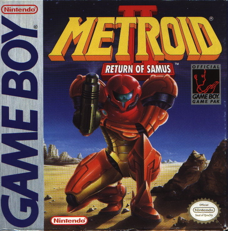 Metroid II: Return of Samus Game Boy Front Cover