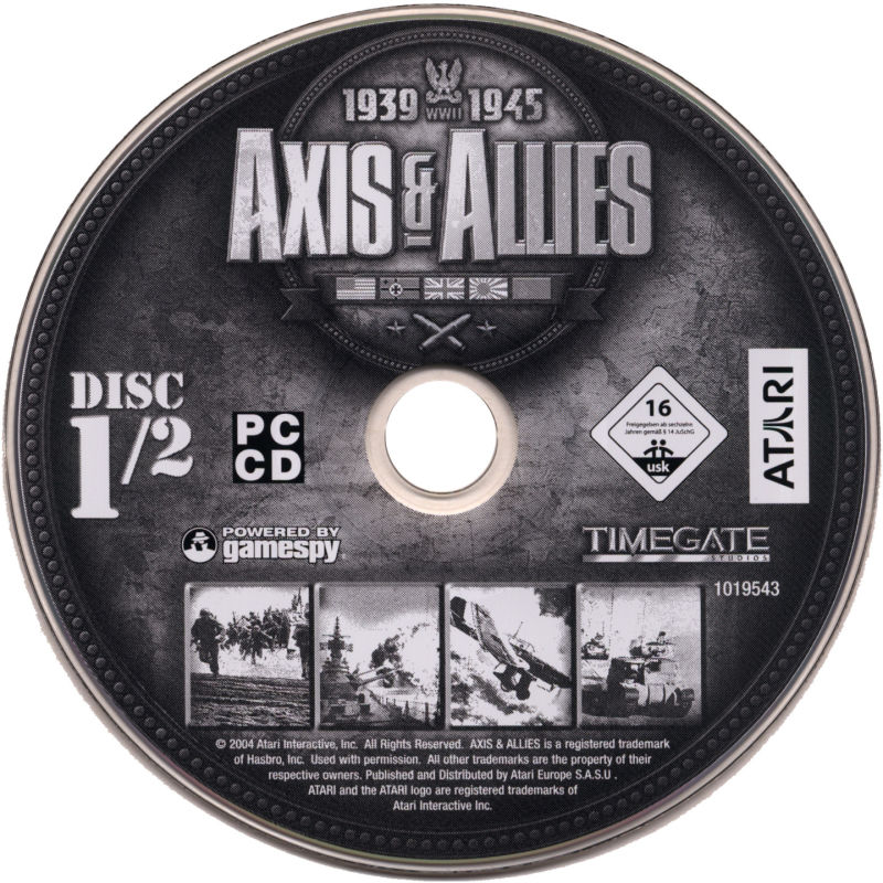 Axis & Allies Windows Media Disc 1/2