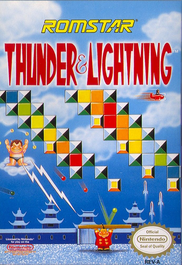 Thunder & Lightning NES Front Cover
