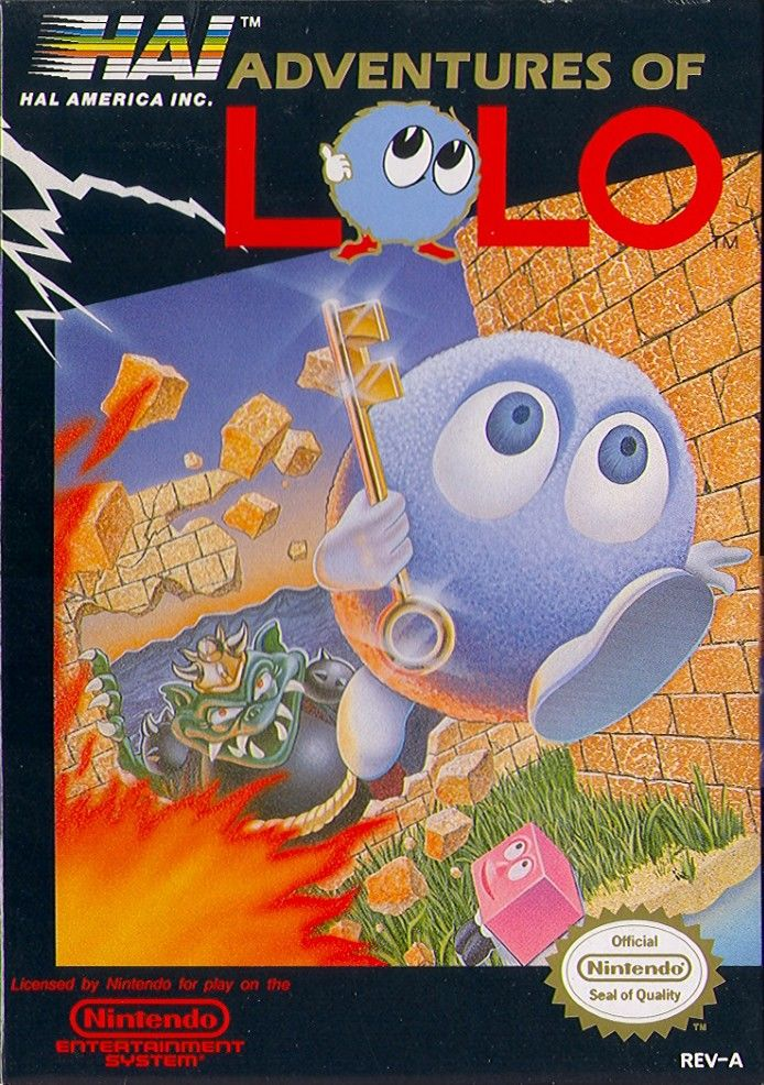 Adventures of Lolo NES Front Cover