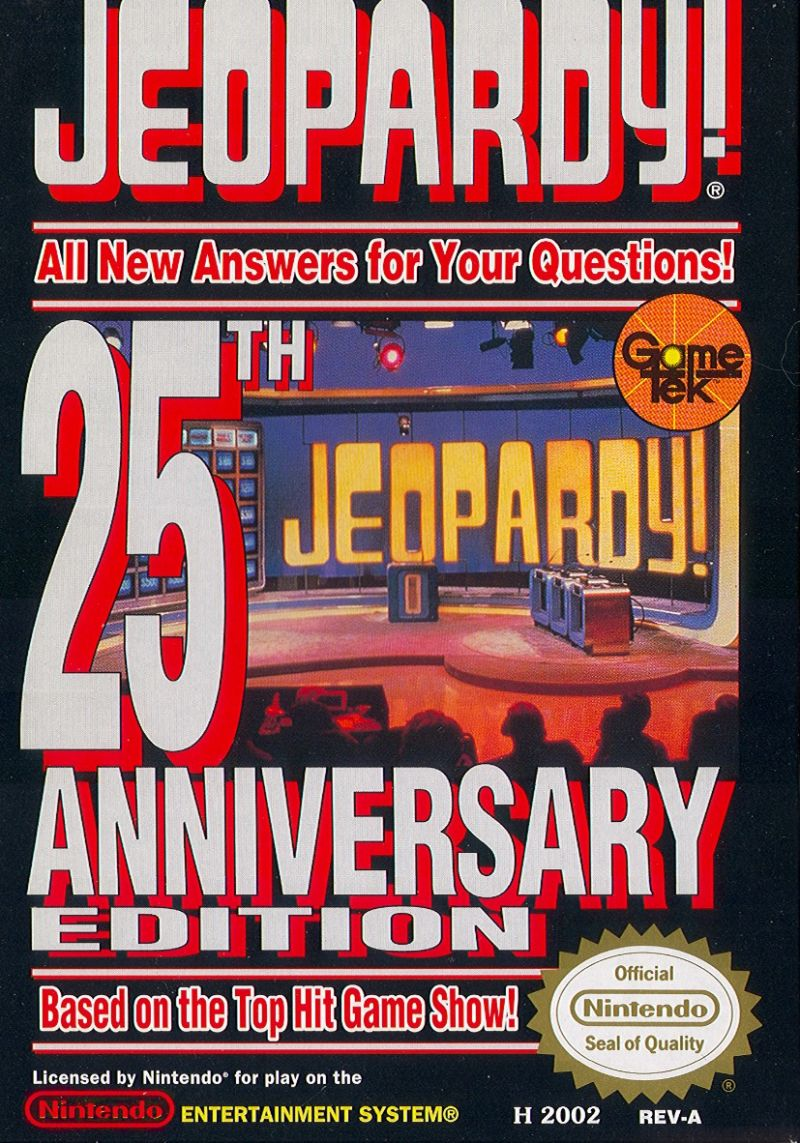 Jeopardy!: 25th Anniversary Edition NES Front Cover