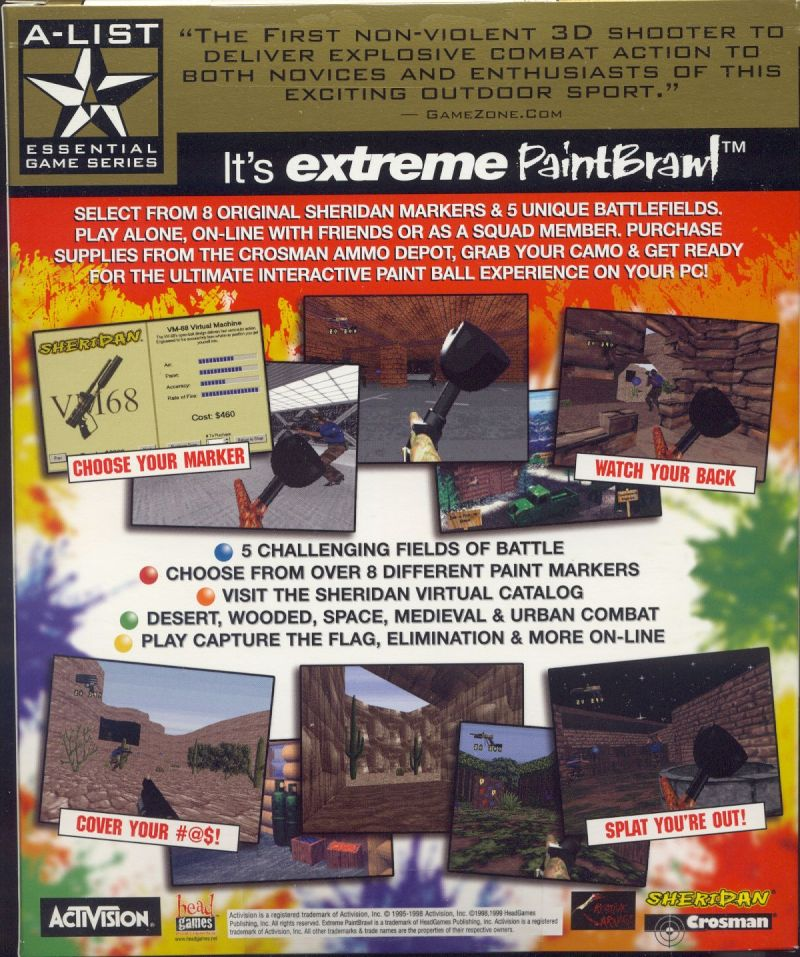 Extreme Paintbrawl Windows Back Cover