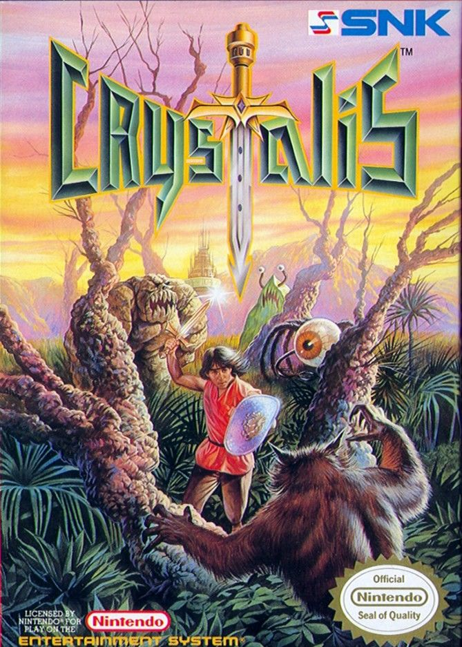 Crystalis NES Front Cover