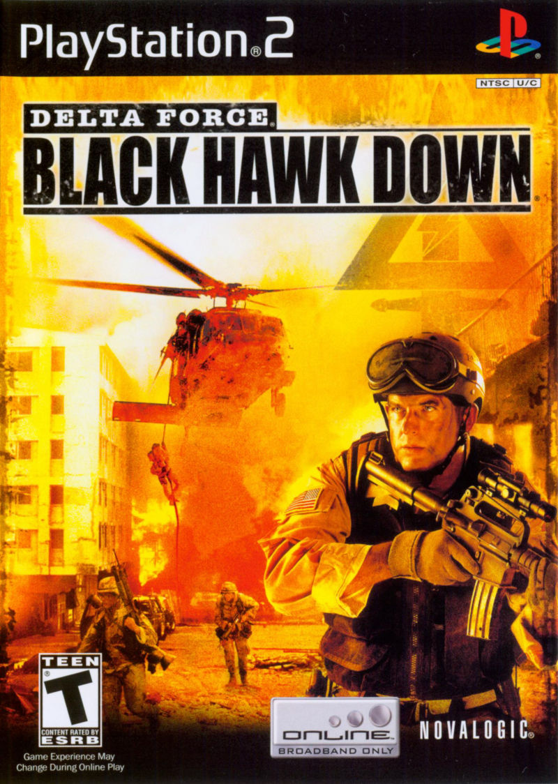 Delta Force: Black Hawk Down PlayStation 2 Front Cover