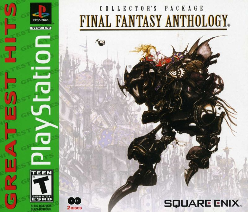 Final Fantasy: Anthology PlayStation Front Cover
