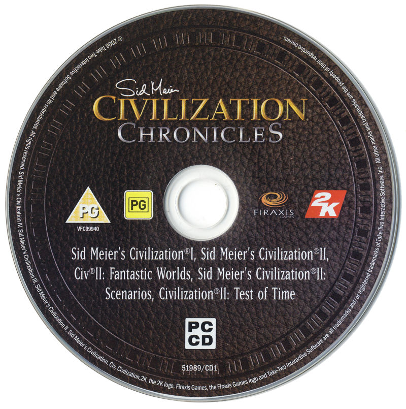 Sid Meier's Civilization Chronicles Windows Media Civilization I + II