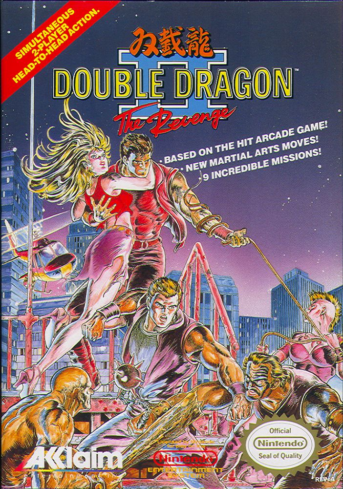 Double Dragon II: The Revenge NES Front Cover