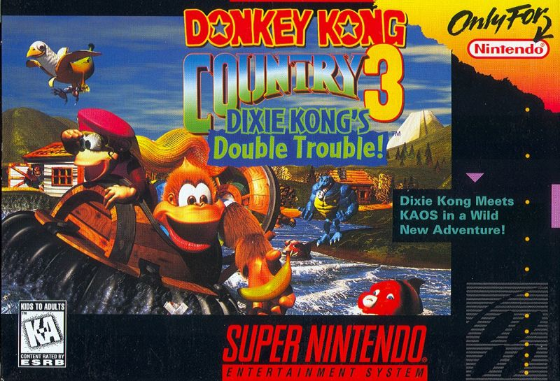 Donkey Kong Country 3: Dixie Kong's Double Trouble! SNES Front Cover