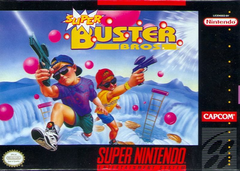 Super Buster Bros. SNES Front Cover