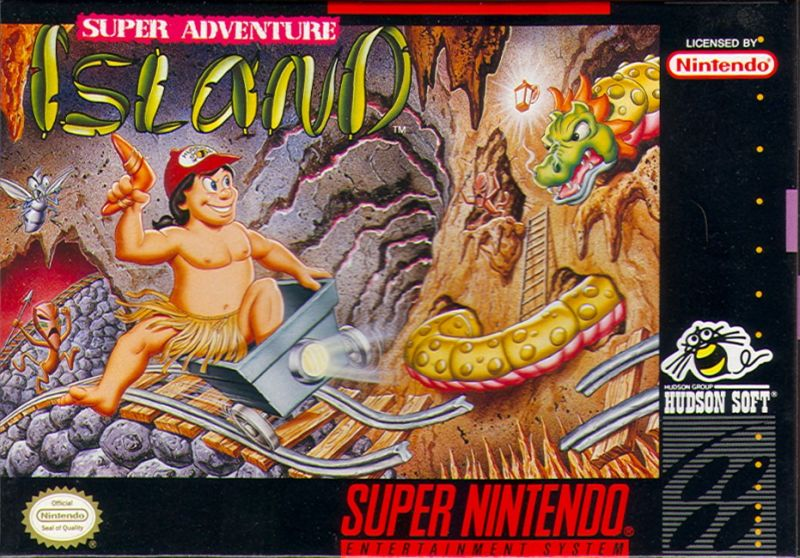Super Adventure Island SNES Front Cover