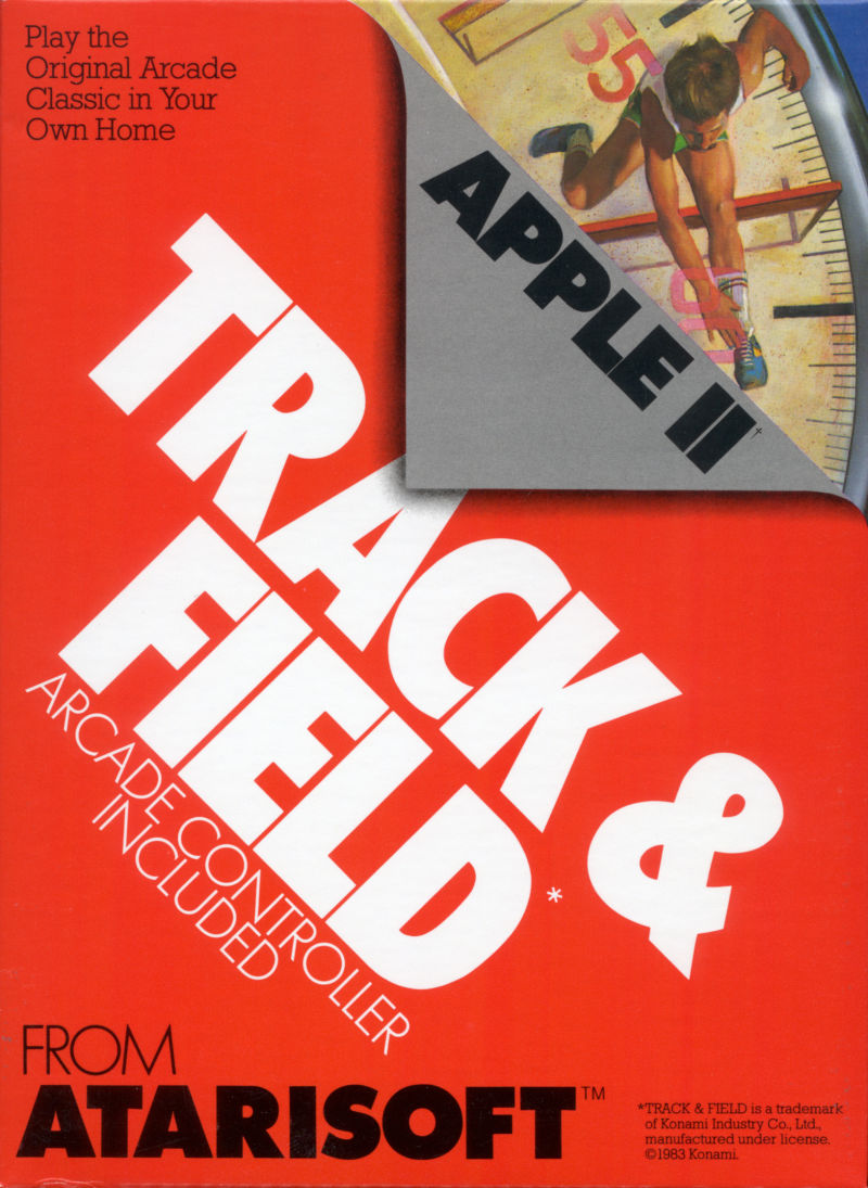 Track & Field Apple II Front Cover