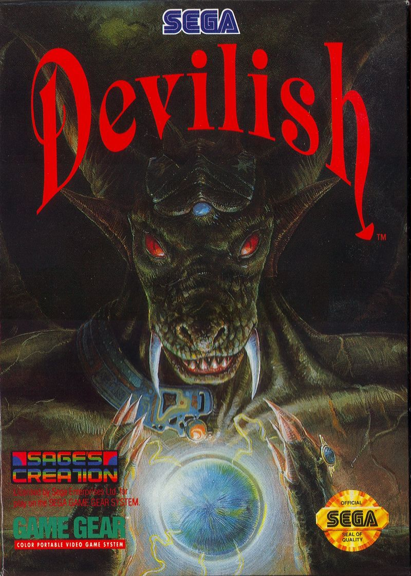 Devilish Game Gear Front Cover