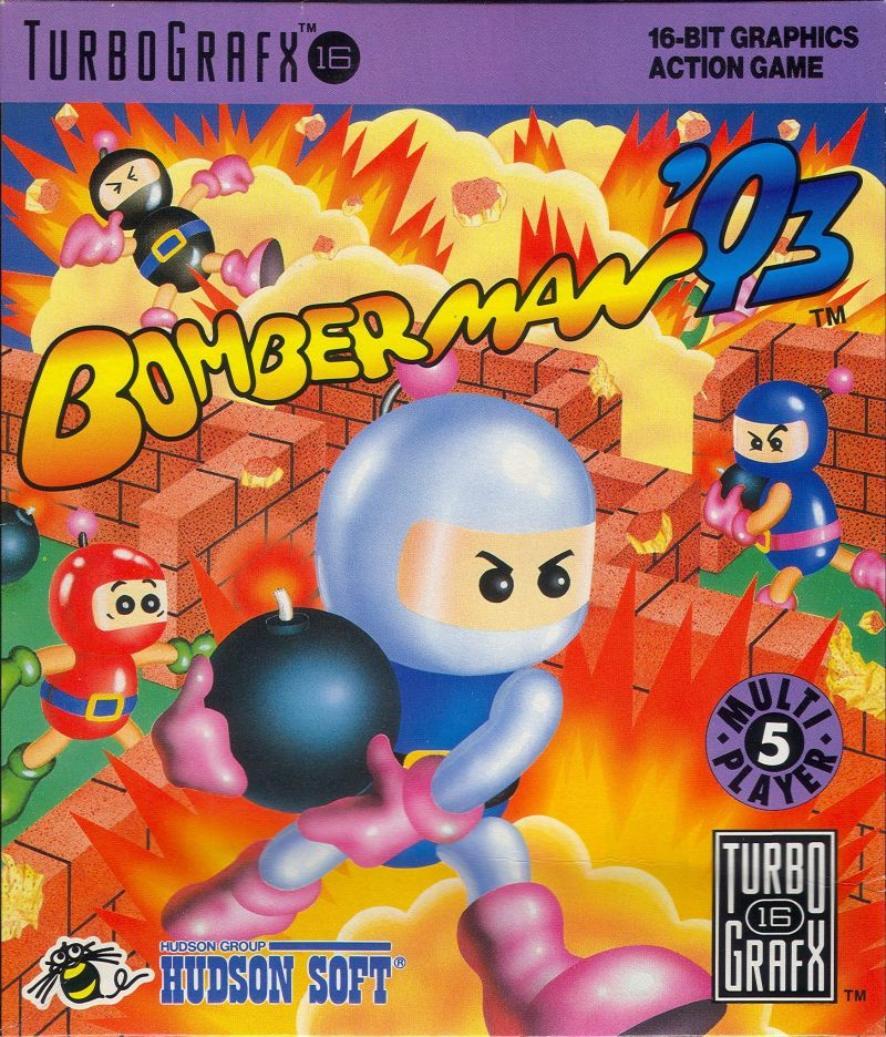 Bomberman '93 TurboGrafx-16 Front Cover