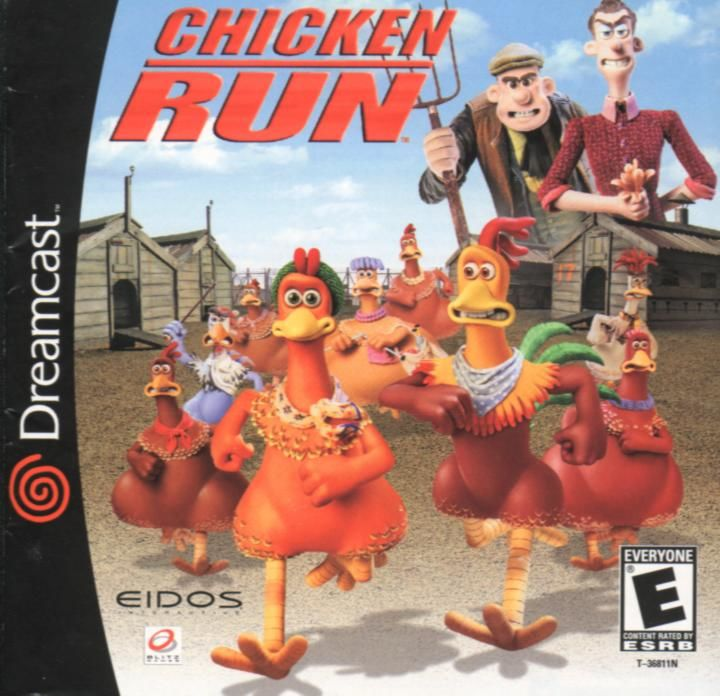Chicken Run Dreamcast Front Cover