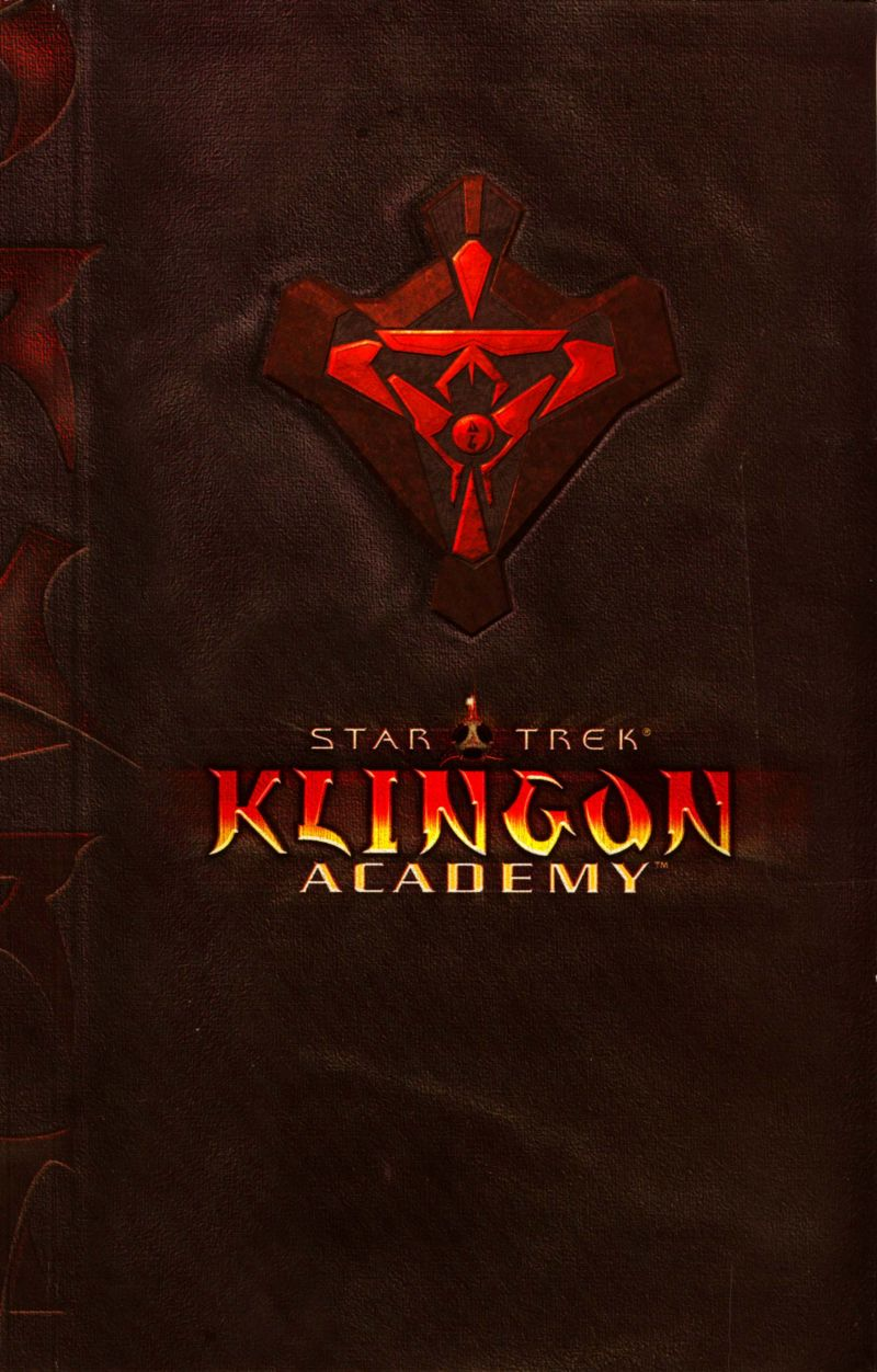 Star Trek: Klingon Academy Windows Other CD Booklet - Front