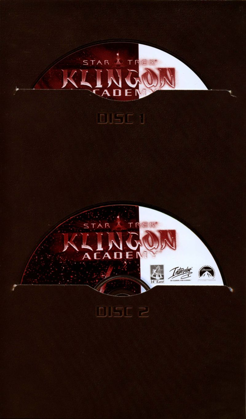 Star Trek: Klingon Academy Windows Other CD Booklet - Inside Left Flap