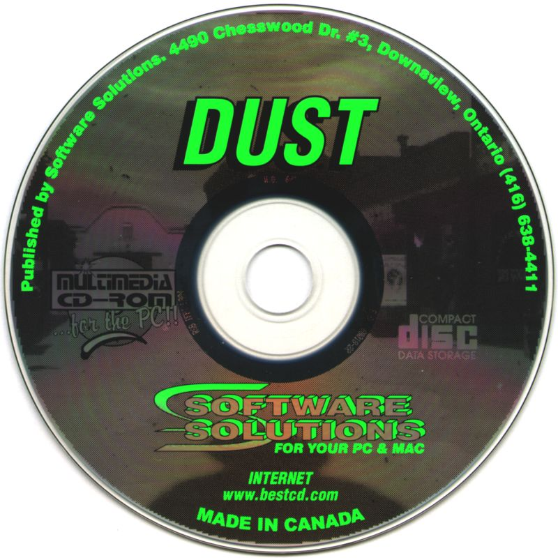 Dust: A Tale of the Wired West Windows 3.x Media
