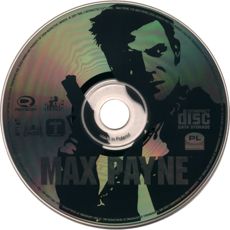 Max Payne Windows Media Game Disc