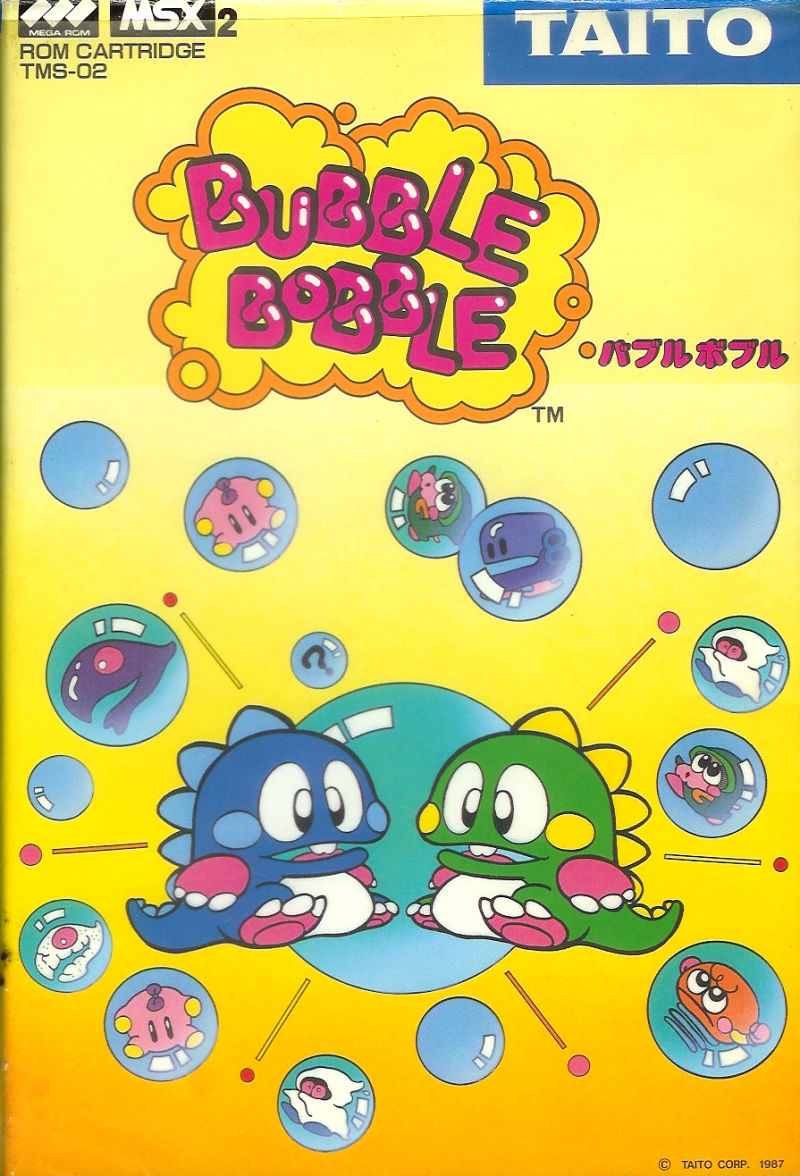 Bubble Bobble MSX Front Cover