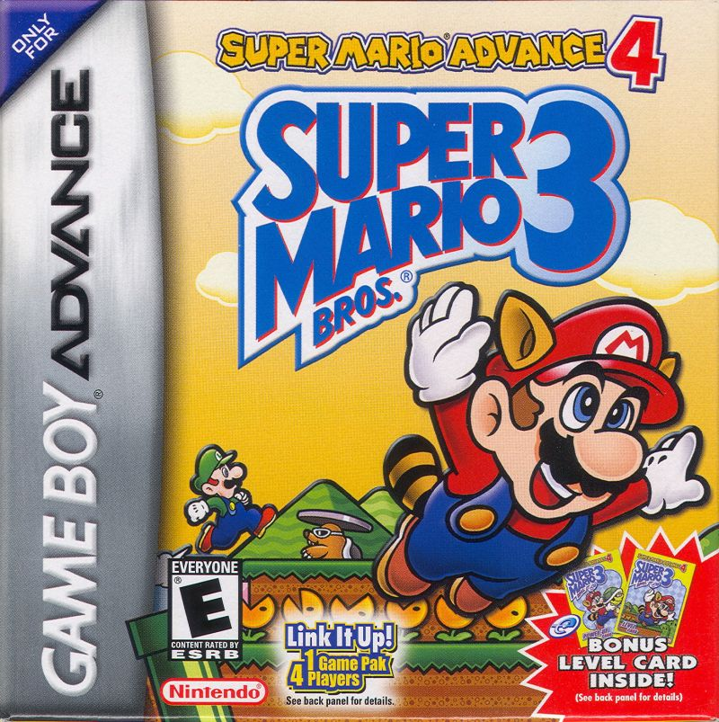 Super Mario Advance 4: Super Mario Bros. 3 Game Boy Advance Front Cover