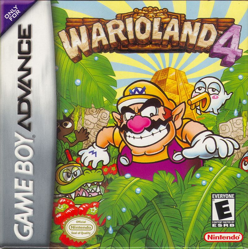 Warioland 4 Game Boy Advance Front Cover