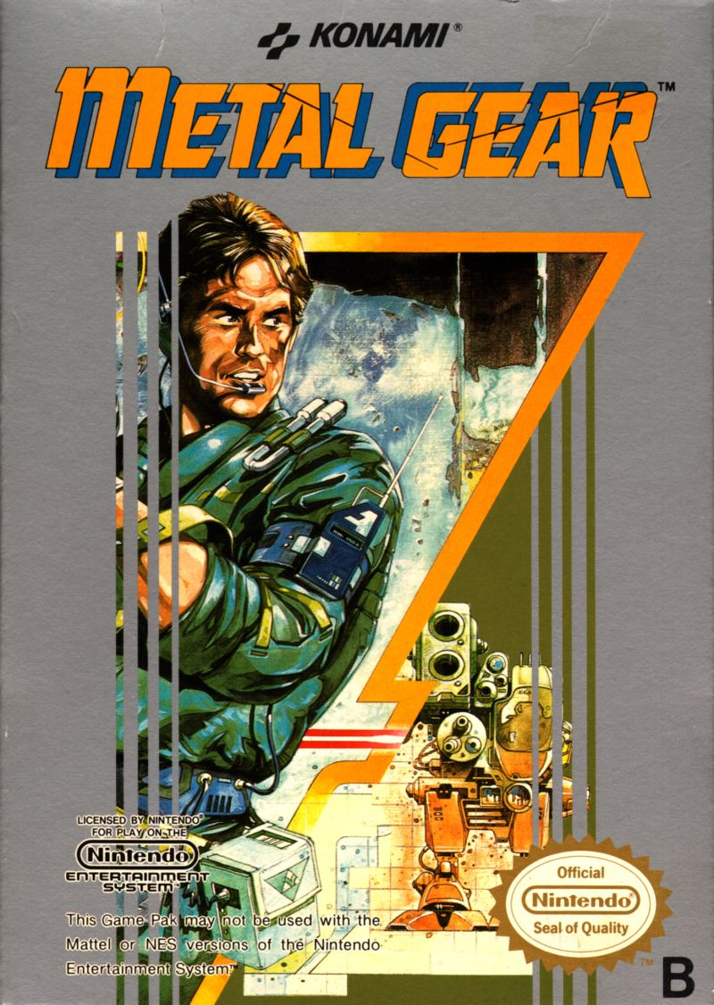Metal Gear NES Front Cover